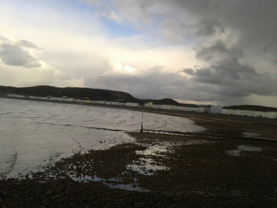 North Shore Beach: Little Orme in the distance