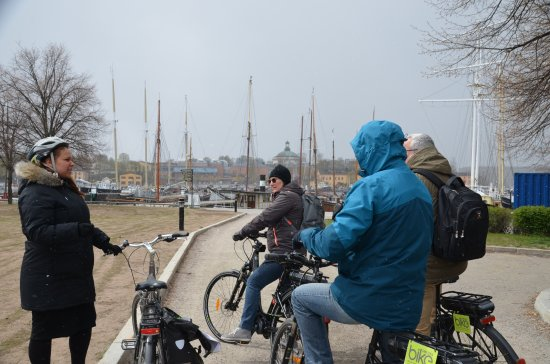 Bike Sweden: Our guide Yasmine (on the left)
