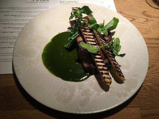 Restaurant Cofoco: Antrykot ze szparagami