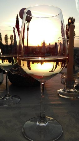 Sarteano, Italy: A glass of wine