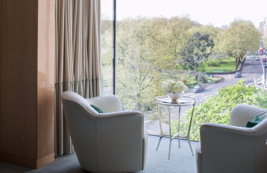 Four Seasons Hotel London at Park Lane: View of Hyde Park from Mayfair Suite
