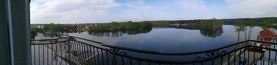 Lubniewice, Polen: Panorama vom Zimmer