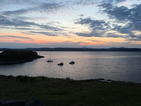 Knoydart, UK: The view from the deck