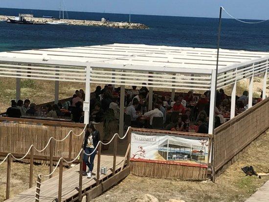 pranzo e cena terrazza sul mare - Picture of La Marinella ...