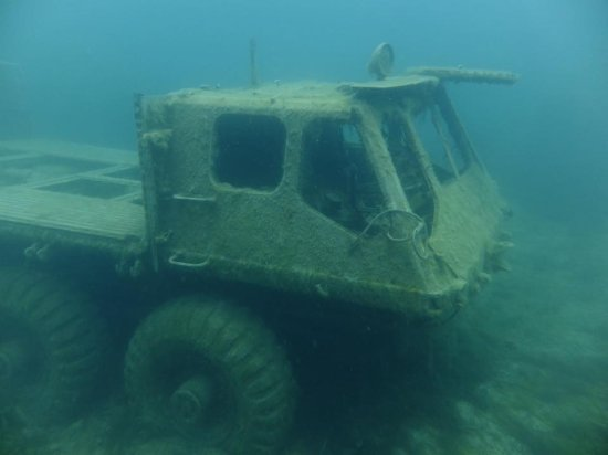 Chepstow, UK: Alvis Stalwart Amphibious Vehicle 'Stolly' at 11m