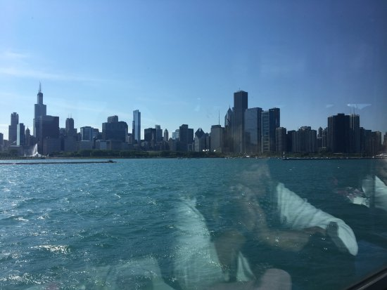 Chicago skyline from the Spirit of Chicago