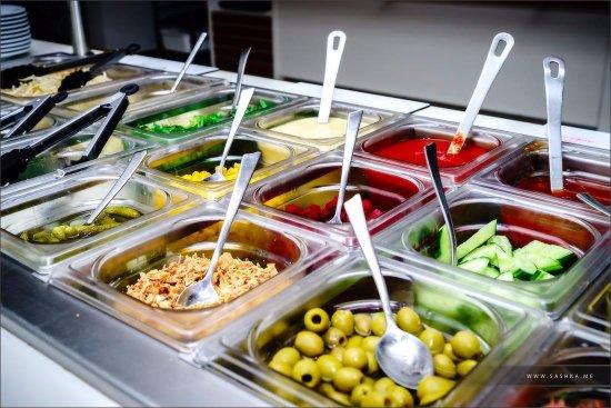 Fegersheim, Frankrig: salade bar