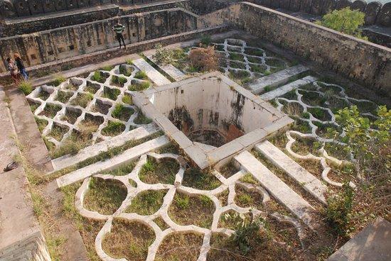 Kankwari Fort: garden inside fort