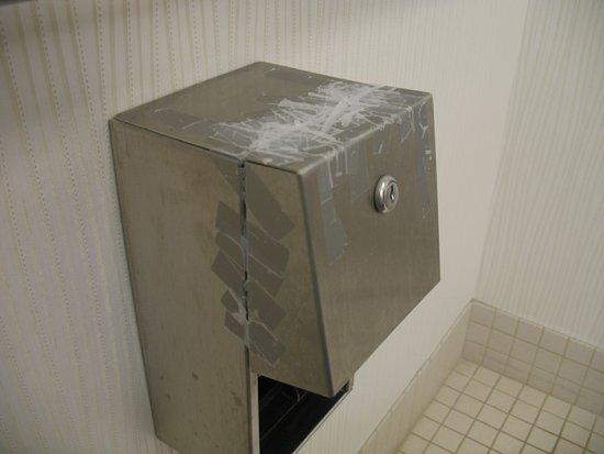 Valley Park, MO: Useless toilet paper holder