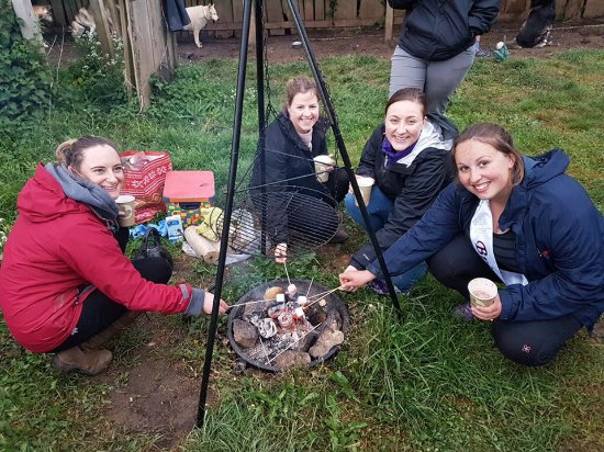 Arctic Quest Sled Dog Adventures: Hot Choc and marshmallows!