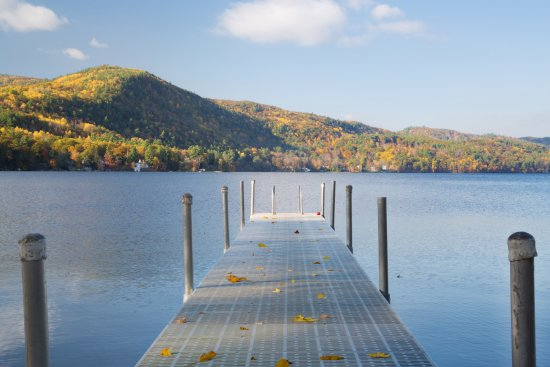 Fairlee, VT: Dock on Lake Morey.
