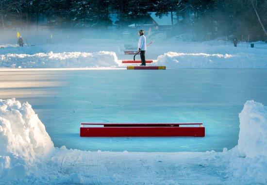 Fairlee, VT: Pond Hockey Rinks on Lake Morey