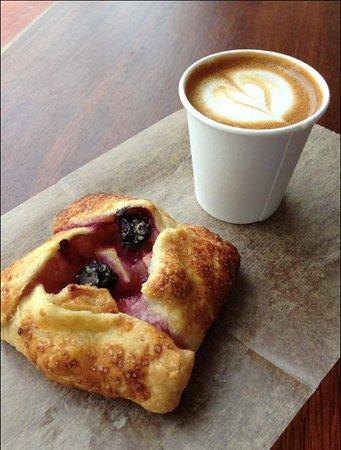 Tart Baking Company: Fuit tart and an espresso macchiato are the perfect summer snack!