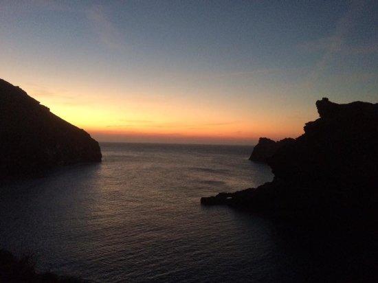 Sun set at Boscastle Harbour