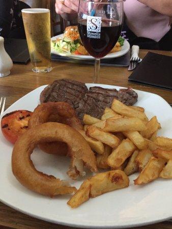 Wigginton, UK: Rump steak