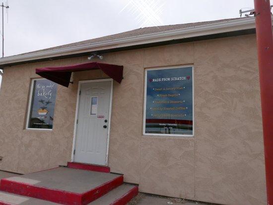The Pie Maker Bakery: front door