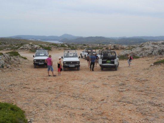 Jeep Safari Menorca: visite auprès d'un phare