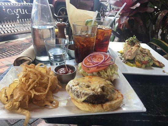 Jaguar Latin American Kitchen: Lunch @ Jaguar; Burger And Quinoa Salad. Very