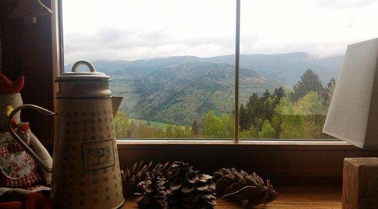 Kruth, France: vue depuis la table...