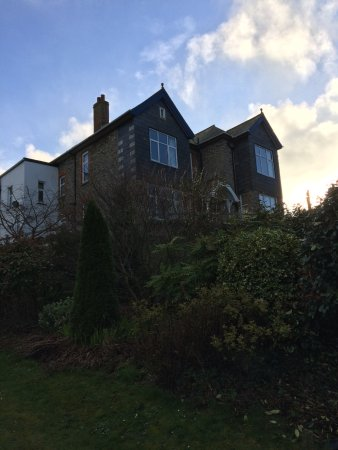Boscastle House, winter photo.