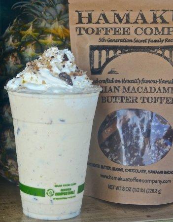 Pepeekeo, Havaí: Signature toffee shake made with Hamakua Toffee Company macadamia butter toffee
