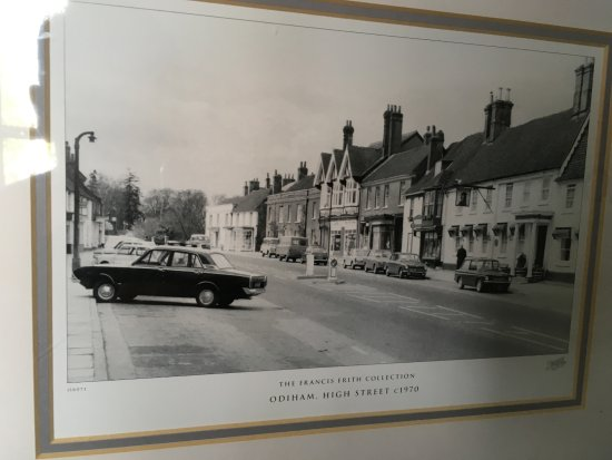 Old photo of Odiham High Street at Bel & The Dragon Odiham, Hampshire UK