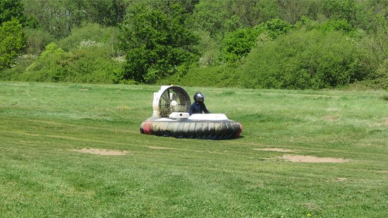 Paddock Wood, UK: Son's 14th birthday having fun hovercrafting at the Hop Farm.