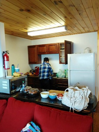 Clipper Shipp Beach Motel: Kitchen:  Full range stove, full size refrigerator, stocked with pots, pans & dishes