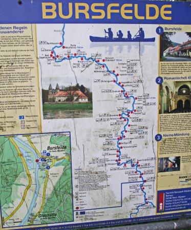 Hannoversch Münden, Tyskland: Infotafel zur Weser