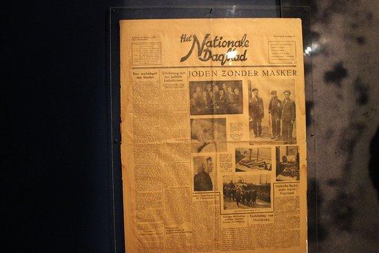 Musée de la Résistance : Newspaper from the time