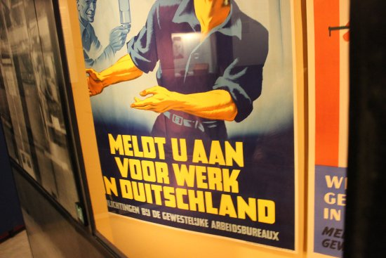 Musée de la Résistance : Poster trying to attract workers to Germany