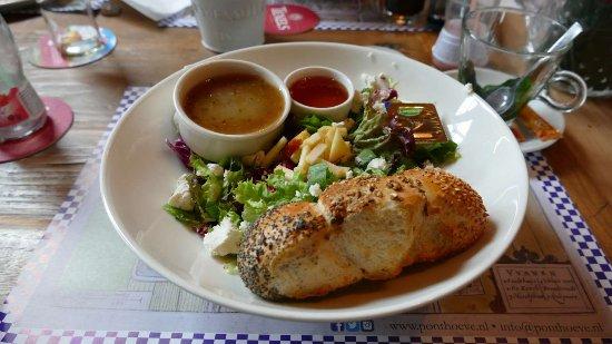 Vianen, Holandia: Een van de gerechten