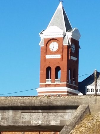 Buchanan, GA: Haralson County courthouse historic clock tower 1897