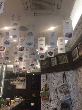 Menu Card Hang From Ceiling Picture