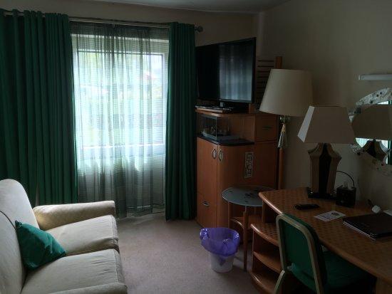Gosforth, UK: Sofa and TV