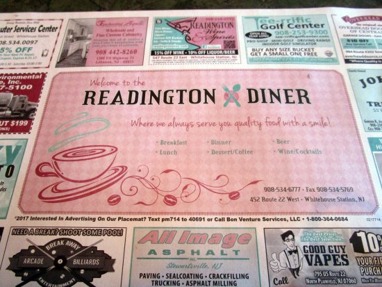 Whitehouse Station, Νιού Τζέρσεϊ: Readington Diner