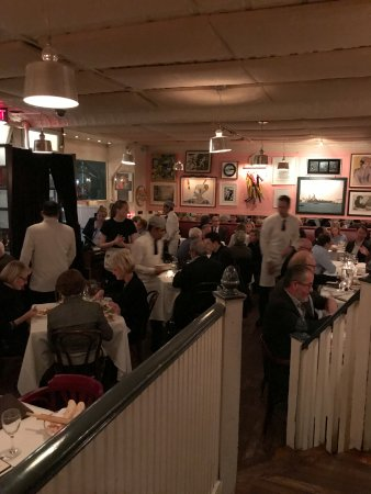 Antonucci: Small, crowded tables -- high noise level
