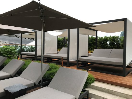Phenomenal Cabanas And Chaise Lounge Chairs Poolside Picture Of Ncnpc Chair Design For Home Ncnpcorg