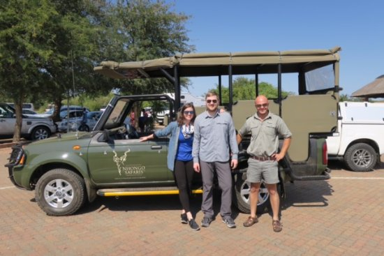 Kruger National Park, South Africa: Gert, and us by the safari jeep!