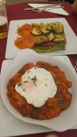 Delicious ratatouille and grilled vegetables