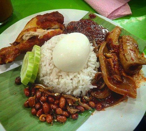 Nasi Lemak Sambal Sotong Picture Of Nasi Lemak Saleha Kuala Lumpur Tripadvisor