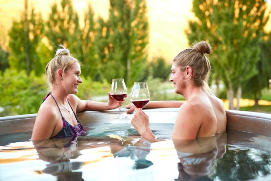 Free Hot Tub >> Enjoying Gibbstons World Renowned Pinot Noir In The Comfort Of Our