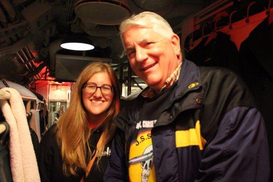 USS Cod Submarine Memorial: Our amazing impromptu tour guide