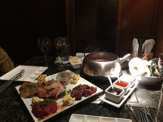 The Melting Pot: Big night out-meat and seafood course