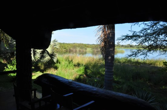 Divundu, Namibia: River view from hut.