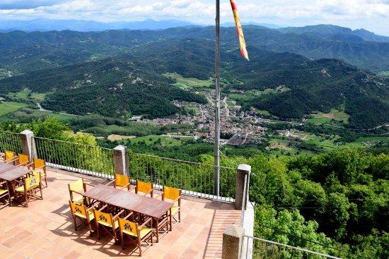 Sant Feliu de Pallerols, İspanya: Vista magnífica dela Vall d'en Bas