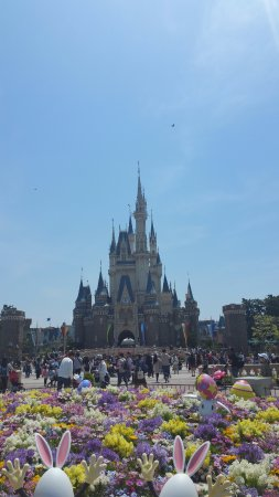 the iconic disney castle 浦安市 東京ディズニーランドの写真