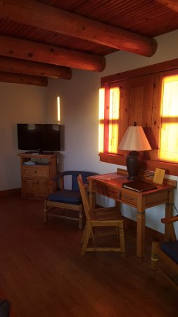 Indian Lodge: Room - tv, chairs, desk