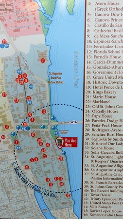 Bayfront Inn: Map showing location and sites within walking distance.