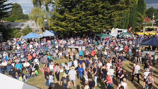 Mole Creek, Australia: Part of the large A Day At The Creek music festival crowd.